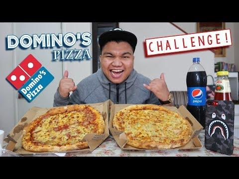 10x Domino's Pizza Size LARGE Challenge! (Malaysia)