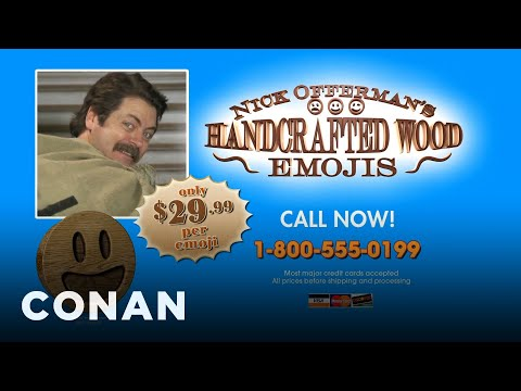 Nick Offermans Handcrafted Wood Emojis Conan On Tbs