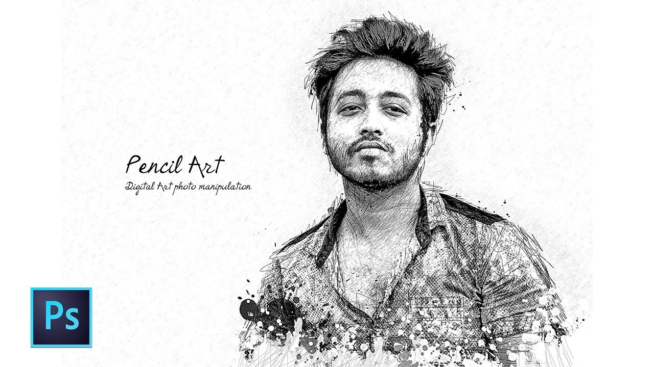 Pencil sketch art photoshop tutorial artistic pencil sketch effect photoshop