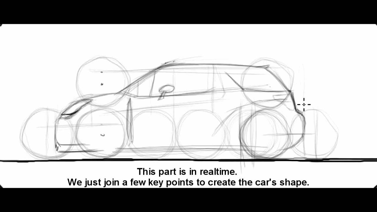 How To Draw A Citro�n Ds3 Wrc  Sketch It Quick!