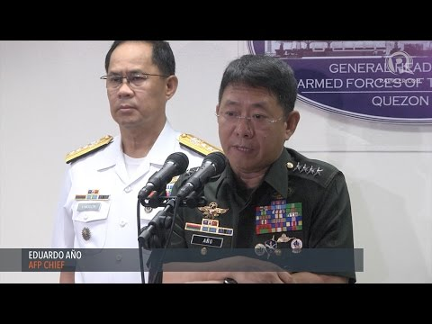 WATCH: AFP Chief Eduardo Año on the clashes with the Abu Sayyaf in Bohol