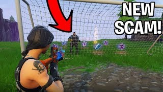 *NEW SCAM* The Soccer Goal Scam BEAWARE! Scammer Gets Exposed In Fortnite Save The World