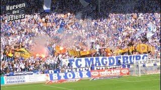 1. FC Magdeburg 2:2 SG Dynamo Dresden 06.10.2018 | Choreos & Support