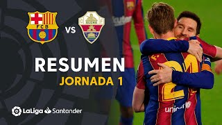 Resumen de FC Barcelona vs Elche CF (3-0)
