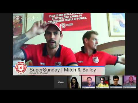 #KXIPHangout with Mitchell Johnson & George Bailey