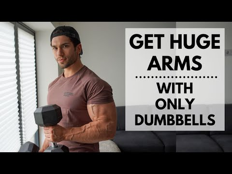 DUMBBELL ONLY ARM WORKOUT / Get Huge Arms At Home