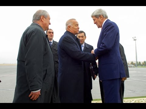 US Secretary of State Kerry visits Uzbekistan, holds talks in Samarkand 11/1/15