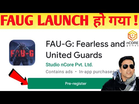 Faug Launched Pre-register Now ! | ncore Games Launched Faug Mobile |