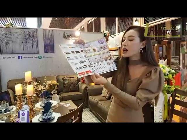 ການໄລສົດຈາກ Tonkham phonchanheuang Miss world laos 2017 ທີ່ບູທໄອເຟີນິເຈີ ໃນງານ Lao wedding fair 2020