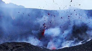 """ثوران بركان """"اتنا """" بصقلية    26-5-2016"""