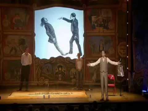 Derren Brown walks on Broken Glass