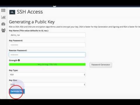 generate public and private key