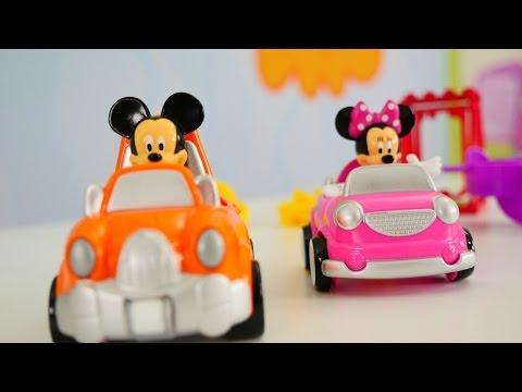 Видео про машинки Микки Маус и игрушки Щенячий патруль
