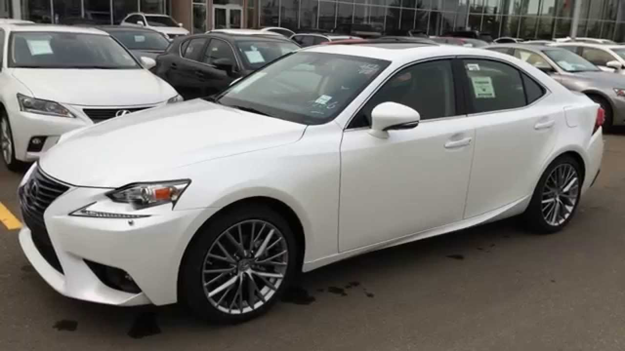 new 2015 lexus is 250 awd white on black premium. Black Bedroom Furniture Sets. Home Design Ideas