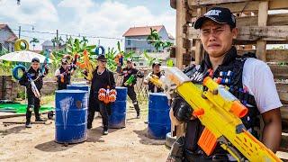 LTT Game Nerf War : Captain Warriors SEAL X Nerf Guns Fight Crime Braum Crazy Assassins