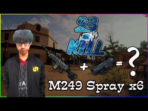 PUBG M : RRQ D2E M249+X6 very ?