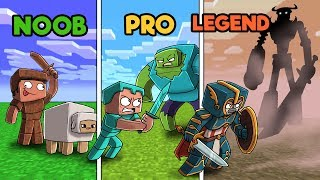 Minecraft - NOOB vs PRO vs LEGEND - BOSS BATTLE!