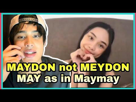 Download Donny, kinorek ang pagpronounce ng MayDon! Obvious talagang pinag-isipan!