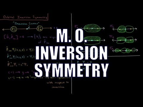 Quantum Chemistry 10.6 - Molecular Orbital Inversion Symmetry
