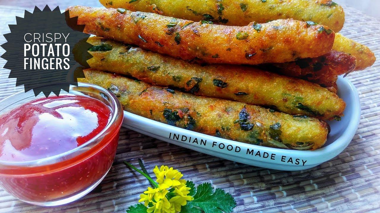 Crispy potato fingers recipe by indian food made easy youtube crispy potato fingers recipe by indian food made easy forumfinder Images