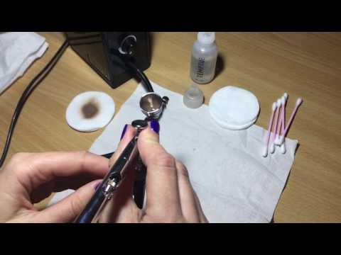 Аэрограф для ногтей как промывать