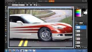 Corel Paint Shop Pro X5 HD Tutorial: How to change car color?