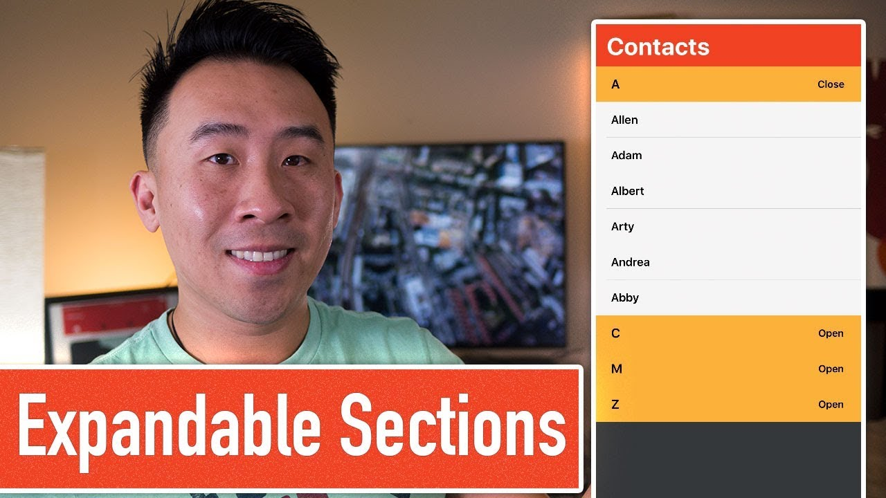 Expandable and Collapsible Sections UITableView (Ep 3)