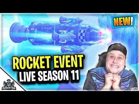 Fortnite Rocket Launch EVENT... WARNING Incoming Season 11