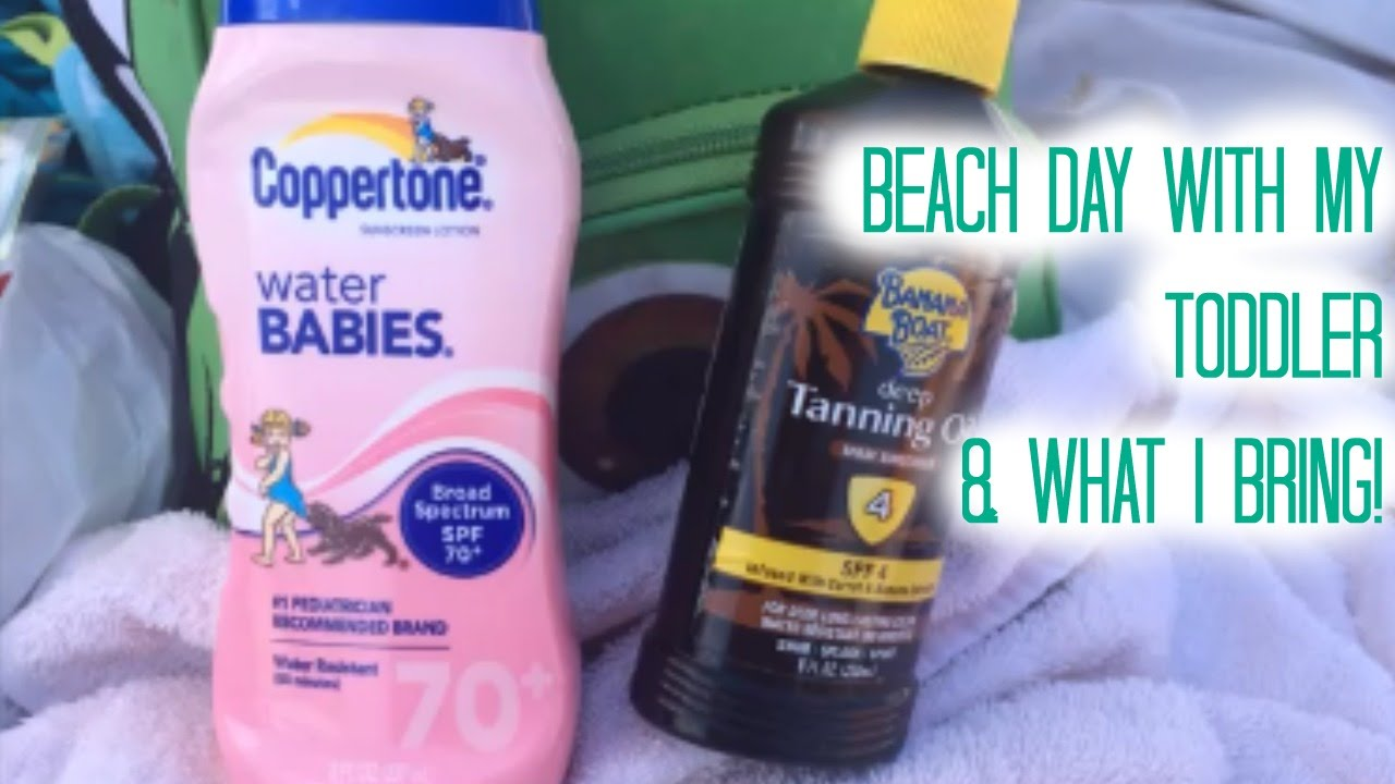 BEACH DAY WITH MY TODDLER WHAT I BRING