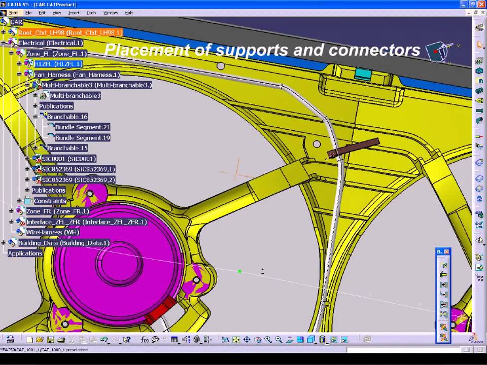 maxresdefault catia v5 electrical wire harness design whx youtube catia wiring harness at mifinder.co