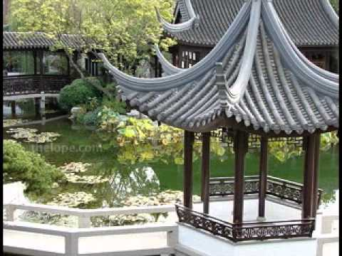 Chinese garden design decor ideas - YouTube