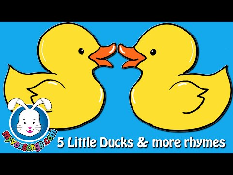 Five Little Ducks & more nursery rhymes with lyrics