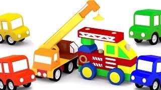 Развивающий мультфильм для детей - 4 машинки - Пожарная машинка