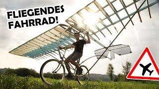 Wir BAUEN ein FLUGZEUG aus einem Fahrrad, Leitern und Styropor! | FLIEGENDES FAHRRAD #1