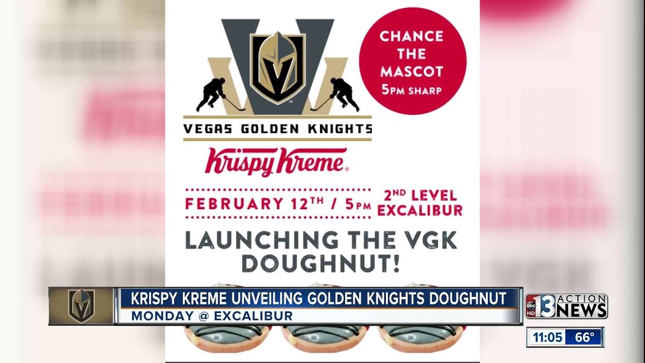 Krispy Kreme unveiling Golden Knights doughnuts on Feb. 12 - YouTube