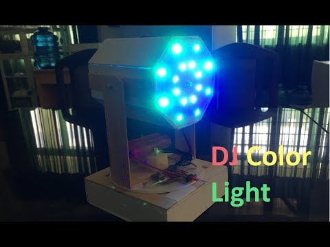 How to Make DJ Light from Color LED at Home| Music Light