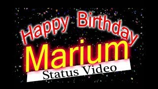 Happy Birthday Marium Status Video, happy birthday wish to Maryam, birthday msg for Maryum जन्मदिन