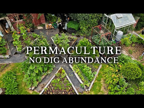Beautiful No Dig Permaculture Kitchen Garden | Small-Scale Potager Style Vegetable Garden