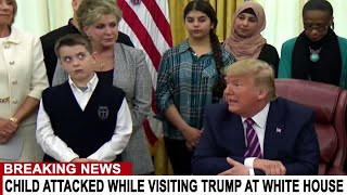 BREAKING: CHILD ATTACKED ON LIVE TV WHILE VISITING TRUMP AT WHITE HOUSE