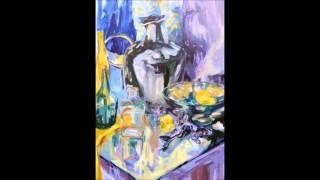 Martyna Pinkowska maluje martwą naturę.