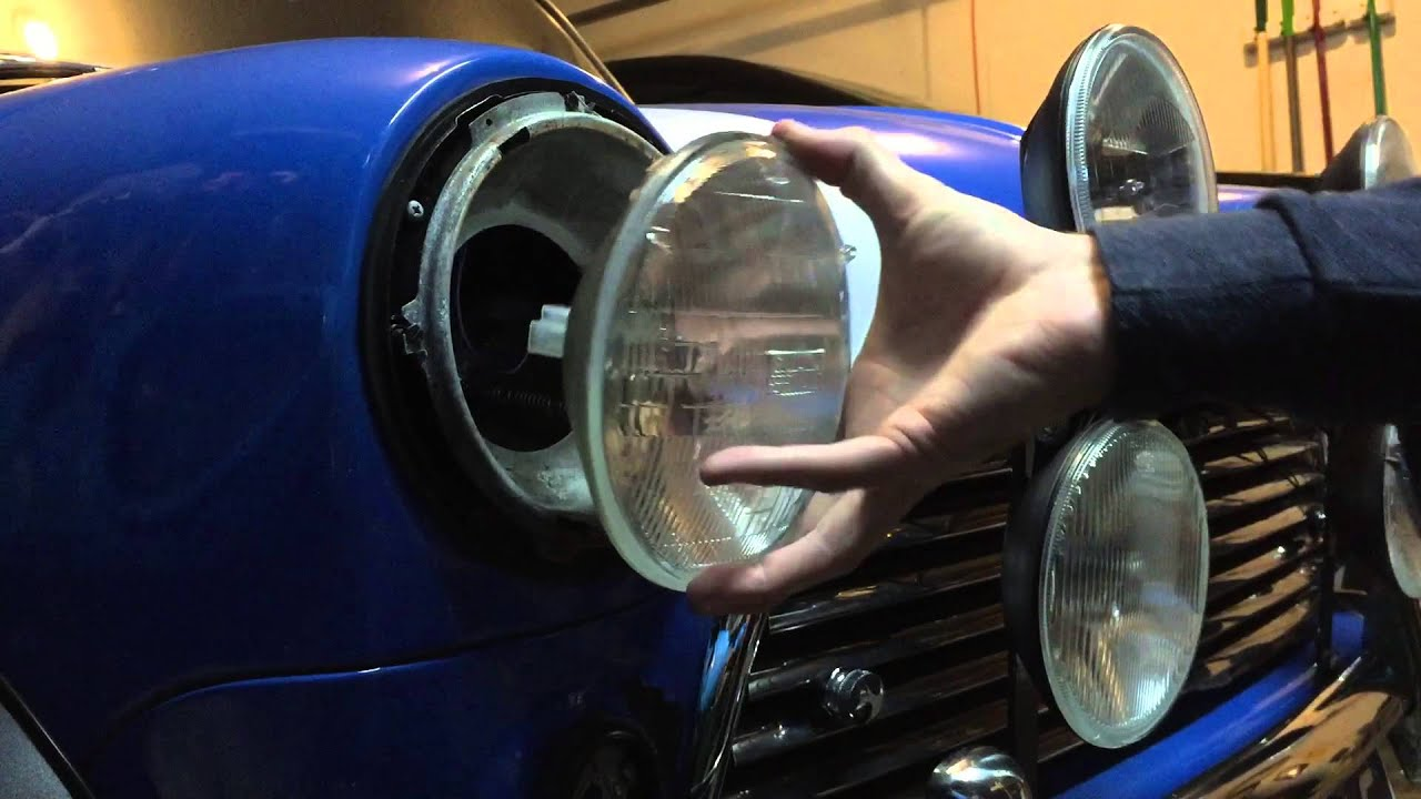 Classic Mini Diy Headlight Replacement Youtube Rover Mpi Wiring Diagram