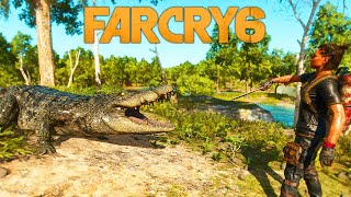 Far Cry 6 All Animals attacks (Feed and pet animals)