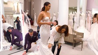 Stephen Curry's Sister Sydel Tries on Wedding Dresses (Exclusive)