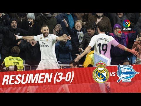 Resumen de Real Madrid vs Deportivo Alavés (3-0)
