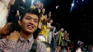 Ekspresi Sahabat Duta Didetik - Detik Pengumuman Juara 1 Liga Dangdut Indonesia