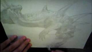 Drawing Lagiacrus 2-Monster Hunter 3(tri)