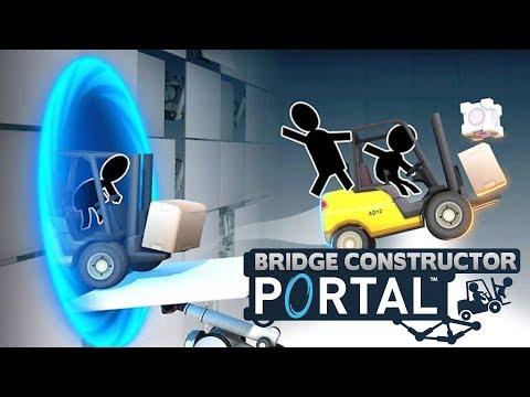 BRIDGE CONSTRUCTOR PORTAL! First Levels Are FUN!