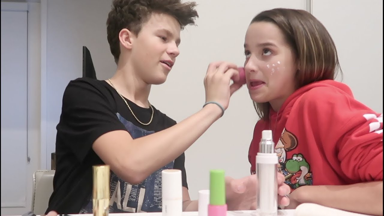 The Mostly Bloopers Makeup Video Annie Leblanc Youtube