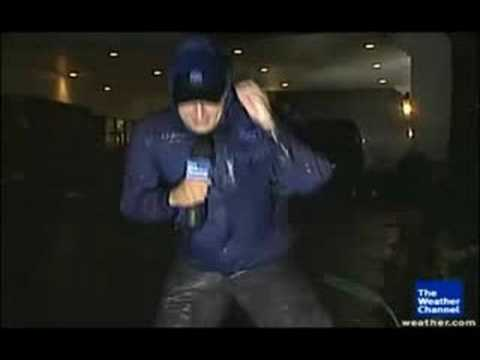 Reporter Blown Away By Hurricane Ike (Literally!!)