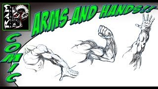 Drawing Comic Book Arms And Hands Video - Various Poses